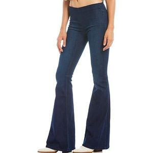 Free People Penny Pull On Flare High Rise Jeans